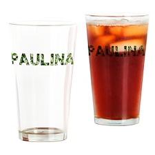 Paulina, Vintage Camo, Drinking Glass