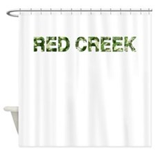 Red Creek, Vintage Camo, Shower Curtain