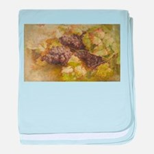 Vintage Painting of Grapes baby blanket
