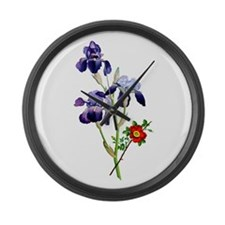 Jean Louis Prevost Bouquet Large Wall Clock