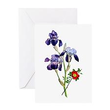 Jean Louis Prevost Bouquet Greeting Card