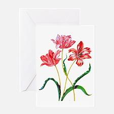 Maria Sibylla Merian Tulips Greeting Card