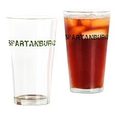 Spartanburg, Vintage Camo, Drinking Glass