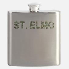 St. Elmo, Vintage Camo, Flask