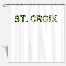 St. Croix, Vintage Camo, Shower Curtain
