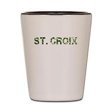 St. Croix, Vintage Camo, Shot Glass