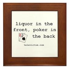 """""""liquor in the front"""" Framed Tile"""