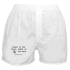 """liquor in the front"" Boxer Shorts"