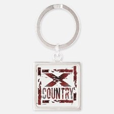Cross Country Square Keychain