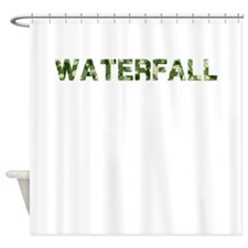 Waterfall, Vintage Camo, Shower Curtain