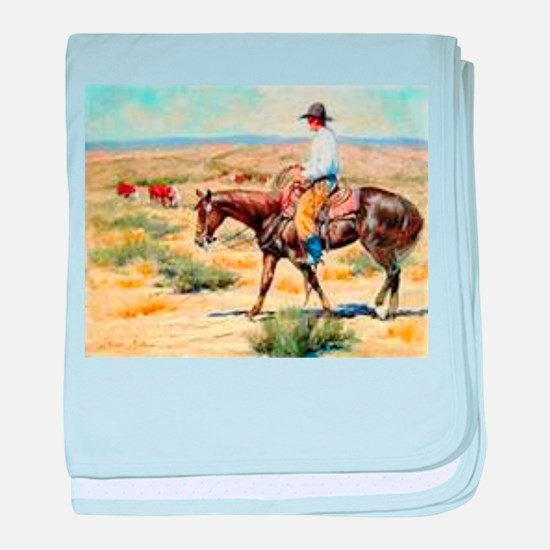 Cowboy Painting baby blanket