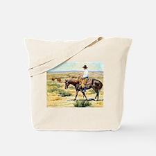 Cowboy Painting Tote Bag