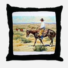 Cowboy Painting Throw Pillow