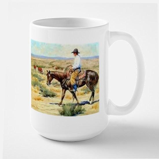 Cowboy Painting Large Mug