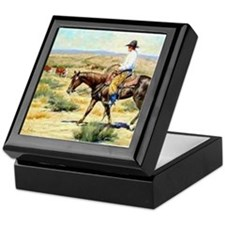 Cowboy Painting Keepsake Box