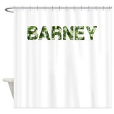 Barney, Vintage Camo, Shower Curtain