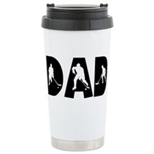 Cute Hockey dad Travel Mug