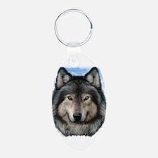 Wolf Head 2 Keychains