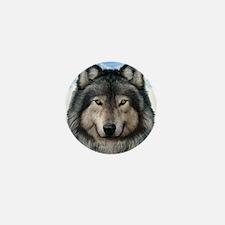 Wolf Head 2 Mini Button (10 pack)