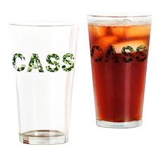 Cass, Vintage Camo, Drinking Glass