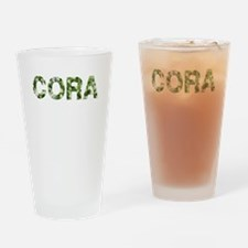 Cora, Vintage Camo, Drinking Glass