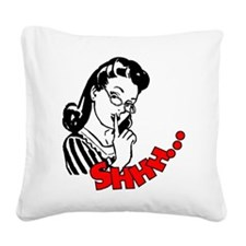 Shhh...Librarian Square Canvas Pillow