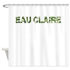 Eau Claire, Vintage Camo, Shower Curtain
