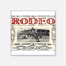 "Vintage Rodeo Square Sticker 3"" x 3"""
