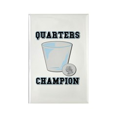 Quarters (Drinking Game) Rectangle Magnet (10 pack