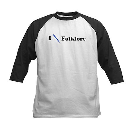 I Write Folklore Kids Baseball Jersey