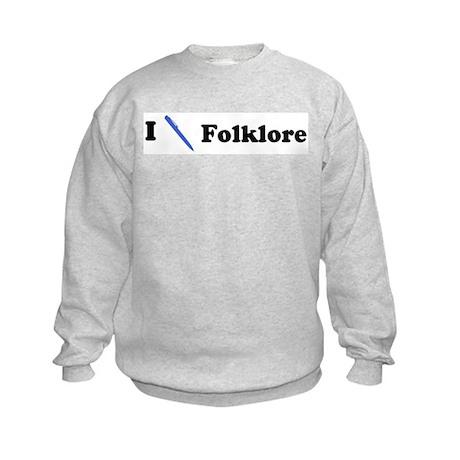 I Write Folklore Kids Sweatshirt