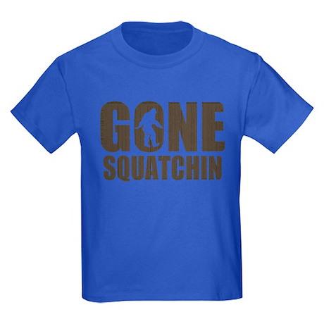 Gone sqautchin Br Kids Dark T-Shirt