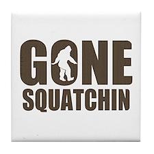 Gone sqautchin Br Tile Coaster