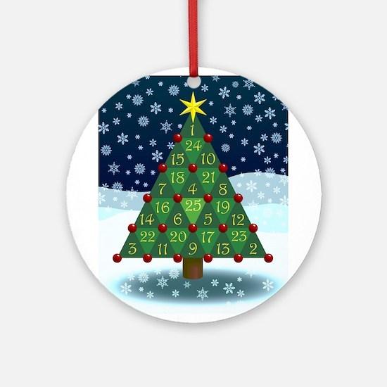 Advent Sum Christmas Tree Ornament (Round)