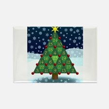 Advent Sum Christmas Tree Rectangle Magnet