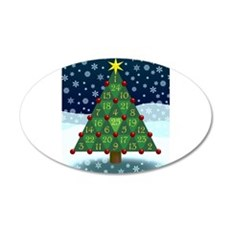 Advent Sum Christmas Tree Wall Decal