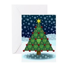 Advent Sum Christmas Tree Greeting Cards (Pk of 20