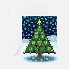 Advent Sum Christmas Tree Greeting Card