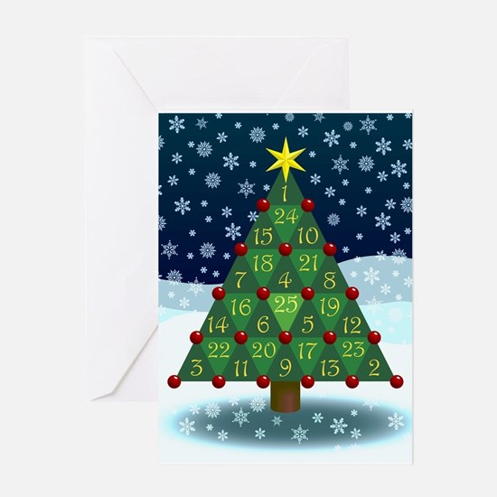 Advent Sum Christmas Tree Greeting Card