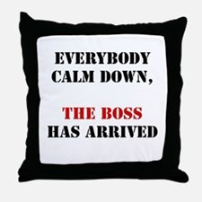 The Boss Arrival Throw Pillow
