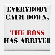 The Boss Arrival Tile Coaster