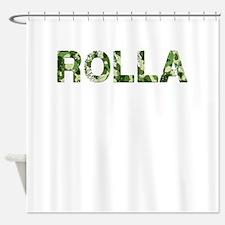 Rolla, Vintage Camo, Shower Curtain