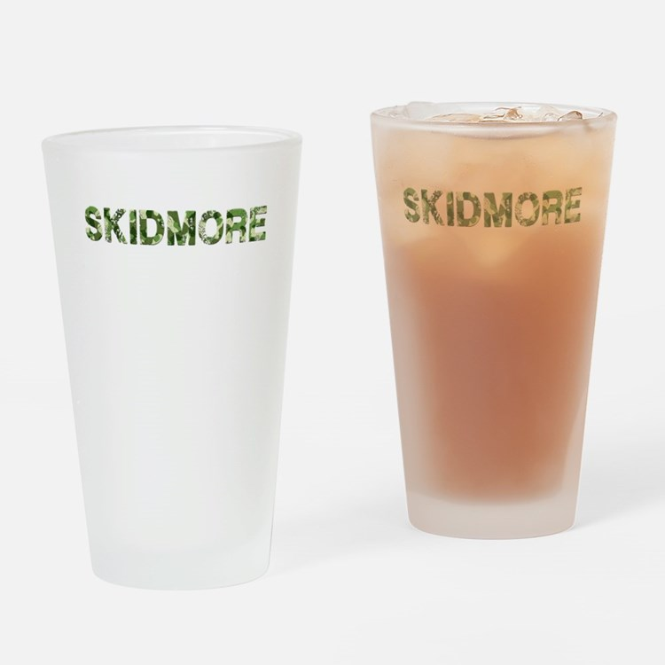 Skidmore, Vintage Camo, Drinking Glass