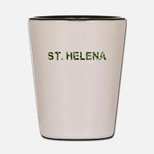 St. Helena, Vintage Camo, Shot Glass