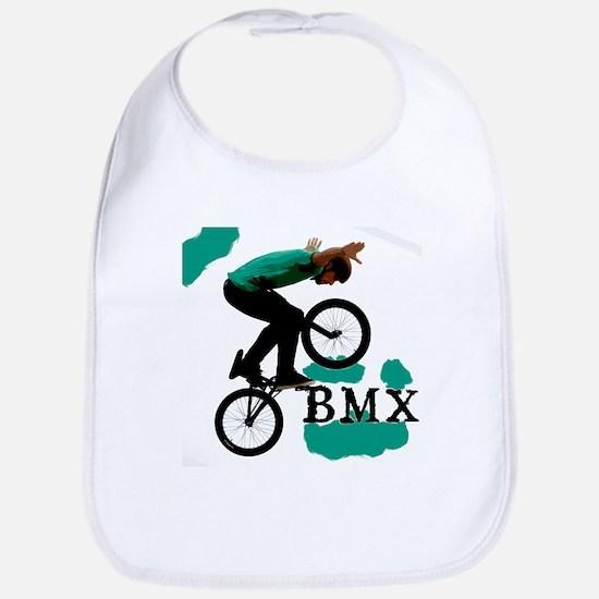 BMX ink blot Bib