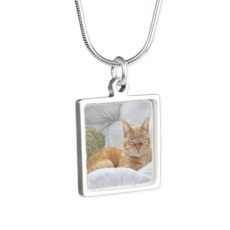 Simba Smiling Silver Square Necklace