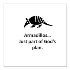 Armadillos...just part of God's plan Square Car Ma