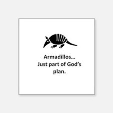 Armadillos...just part of God's plan Square Sticke