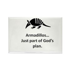 Armadillos...just part of God's plan Rectangle Mag