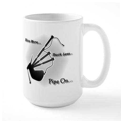 Blow more... Suck Less... (Modern) Large Mug